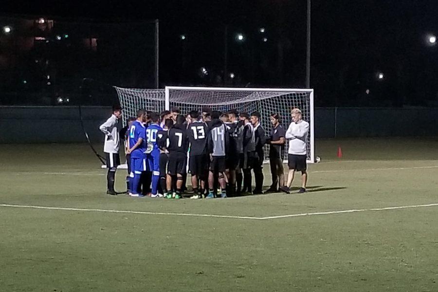 Mt. SAC Men's Soccer gather at home on Friday, Aug. 31. Photo Credit: John Athan/SAC.Media