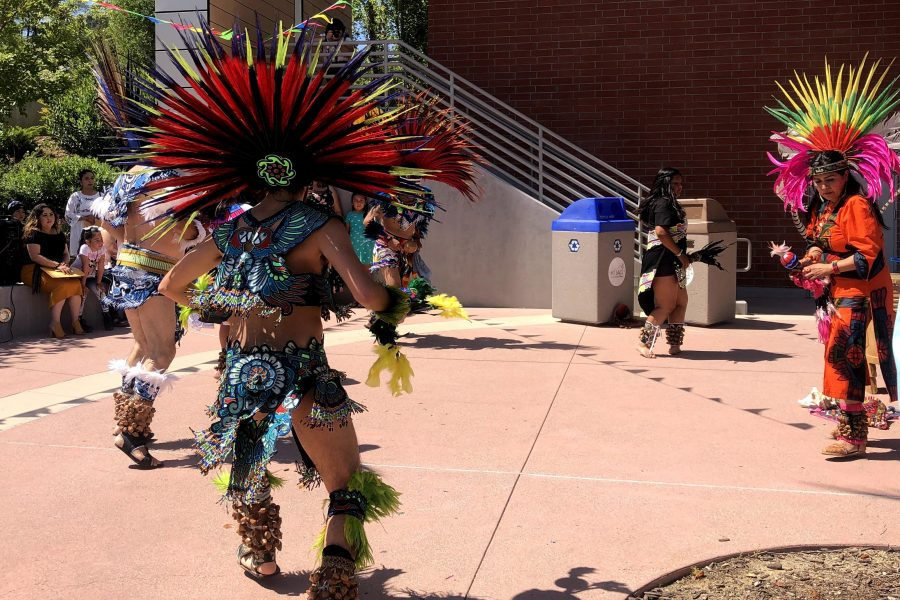 Aztec+dancers+preform+outside+of+the+Mt.+SAC+Design+Technology+Building+on+June+8.+Photo+credit%3A+Berenize+Montoya%2FSAC.Media.