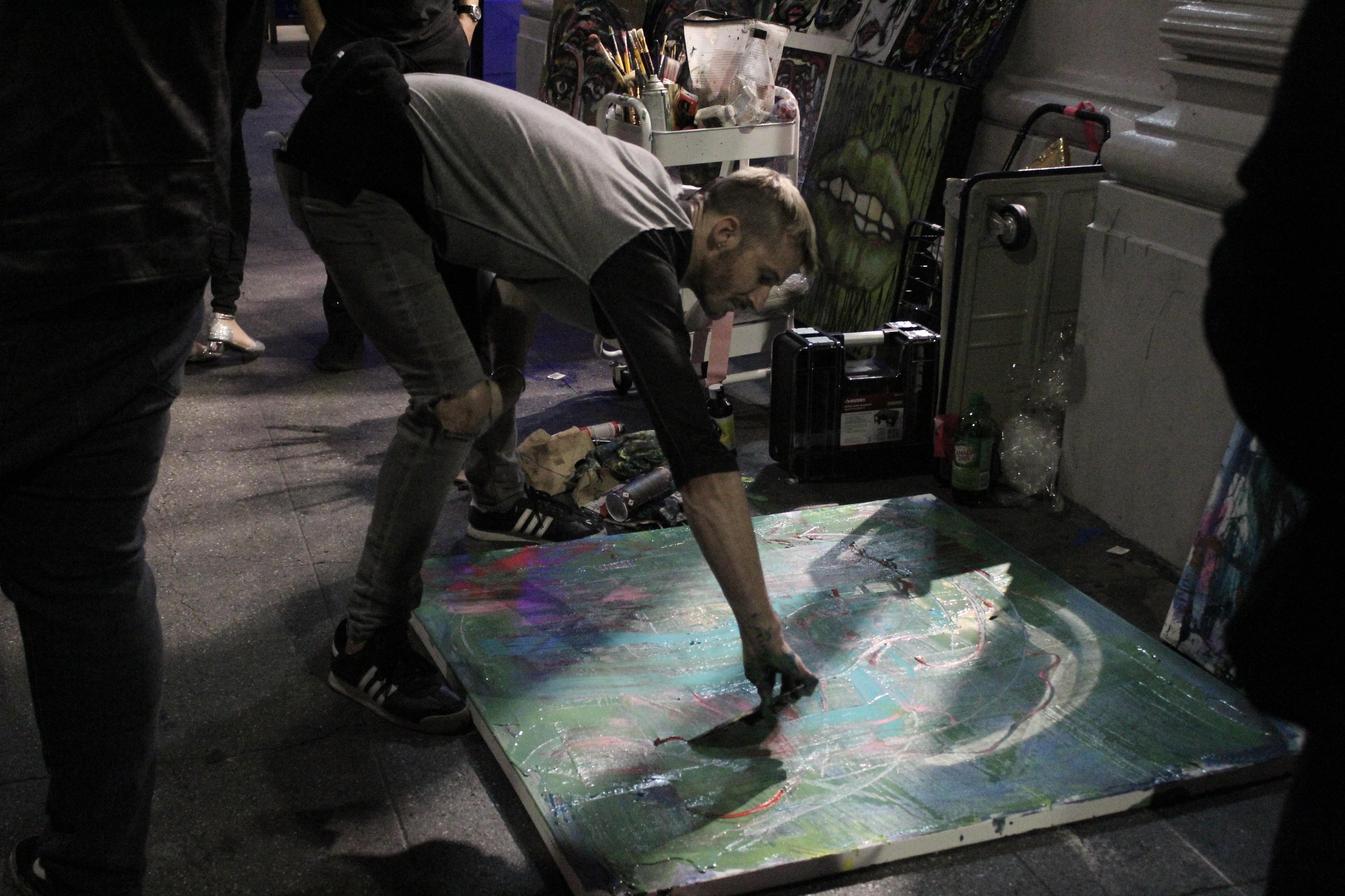 Live art at the Downtown LA Art Walk