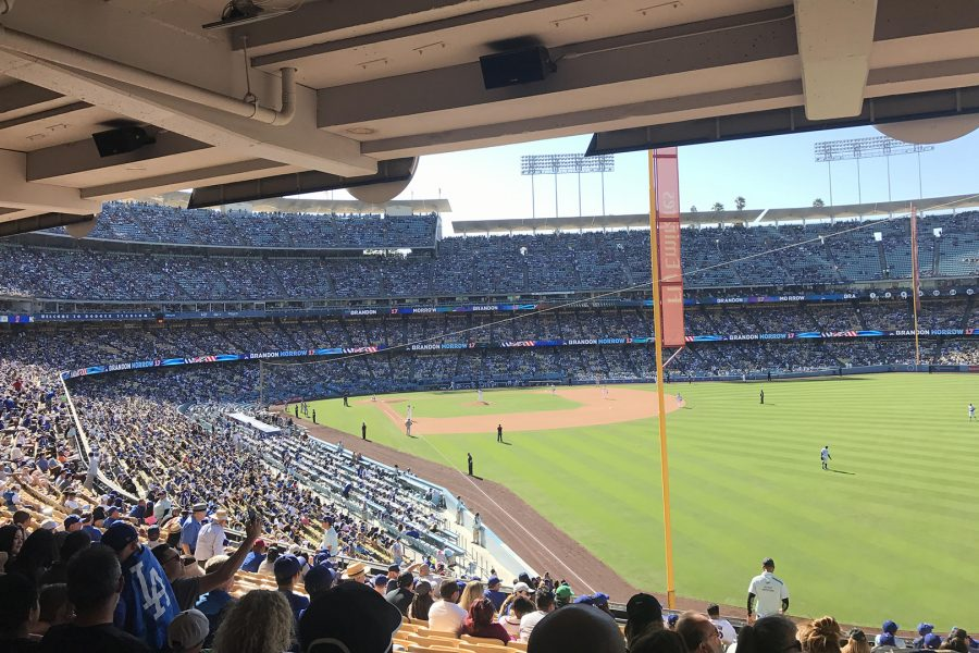 The view from mid-level seats at Dodger Stadium. Photo by Miranda Virgen/SAC Media.