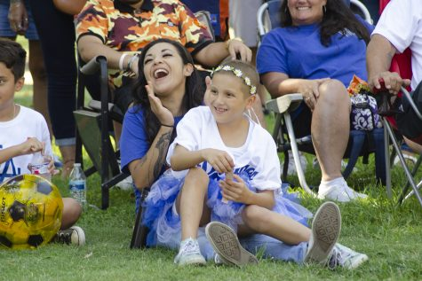 Natalee Garcia and her mom Trish Perfecto during Dodger'd Up Against Cancer for Team Natalee Fundraiser at los Nietos Park, Santa Fe Springs on Sat, Sept. 8. Photo Credit: Hernandez Coke/SAC.Media