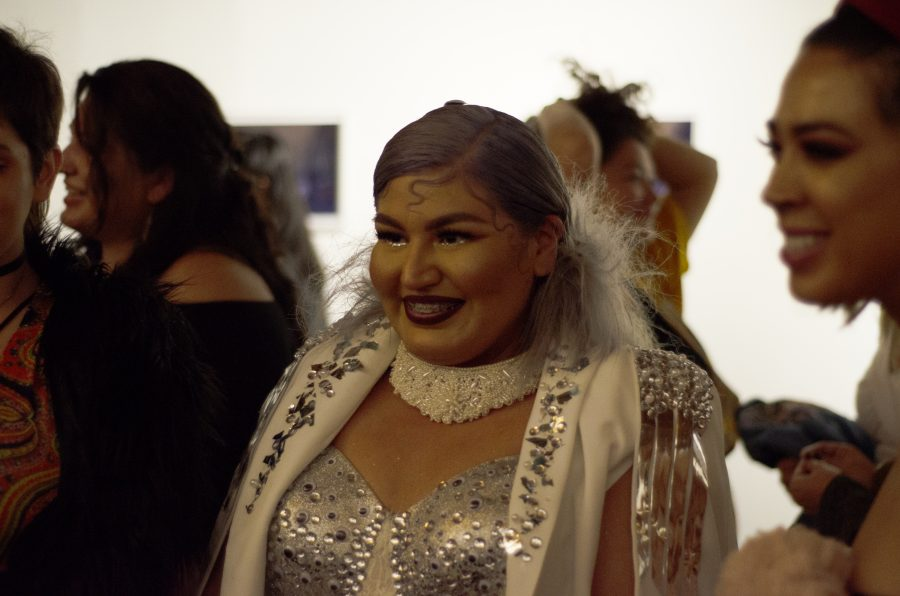 Ruth+Torres+interacts+with+guests+during+her+art+show+%E2%80%9CTainted+Truth%E2%80%9D+in+Chinatown%2C+Los+Angeles+on+Thurs%2C+Oct.+11.+Photo+Credit%3A+Hernandez+Coke%2FSAC.Media