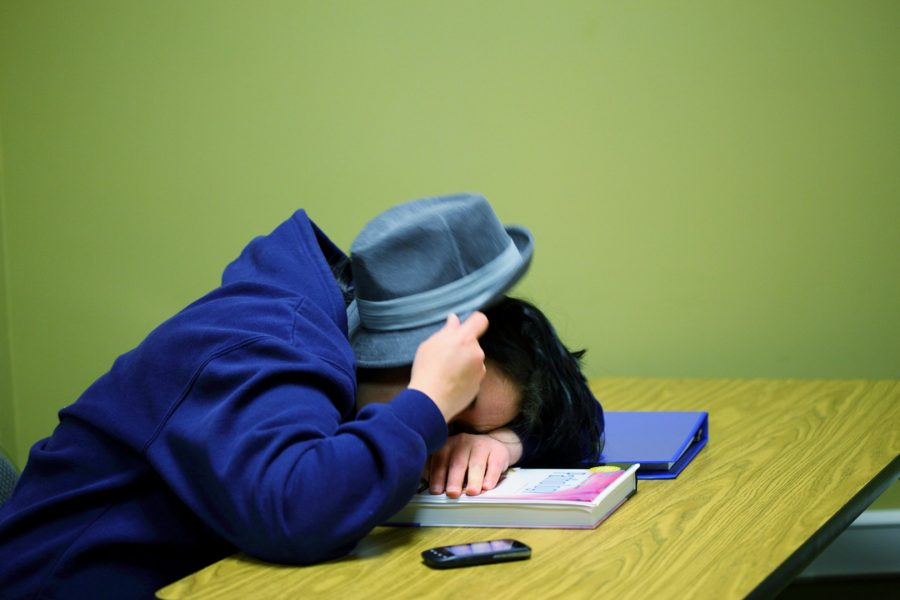 Boy sleeping in class. Photo Credit: D. Sharon Pruitt/Pink Sherbet Photography