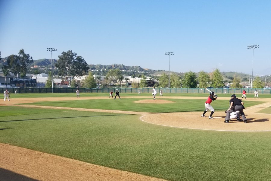 Mt.+SAC+pitcher+Zach+Bromstead+taking+on+Chaffey+College+batter+Gerardo+Garcia+on+Tuesday%2C+April+3.+Photo+Credit%3A+John+Athan%2FSAC.Media.