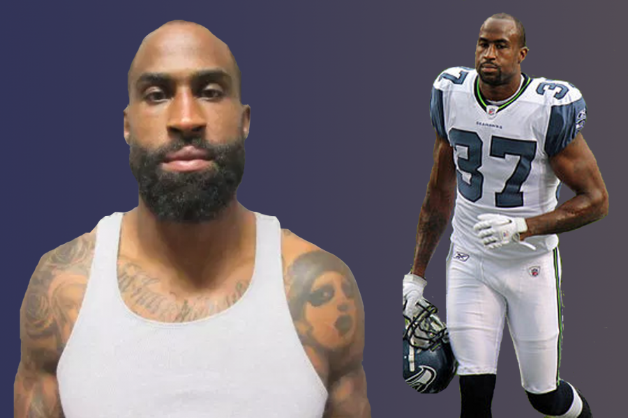 Brandon Browner has quite the record on and off the field. Photo Credit: La Verne Police Department (left), Creative Commons under author Jeffrey Beall (right).