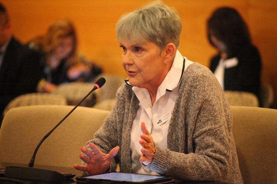 Joan Sholars spoke to the Mt. SAC Board of Trustees on June 26 at Founder's Hall. Photo Credit: Abraham Navarro/SAC.Media