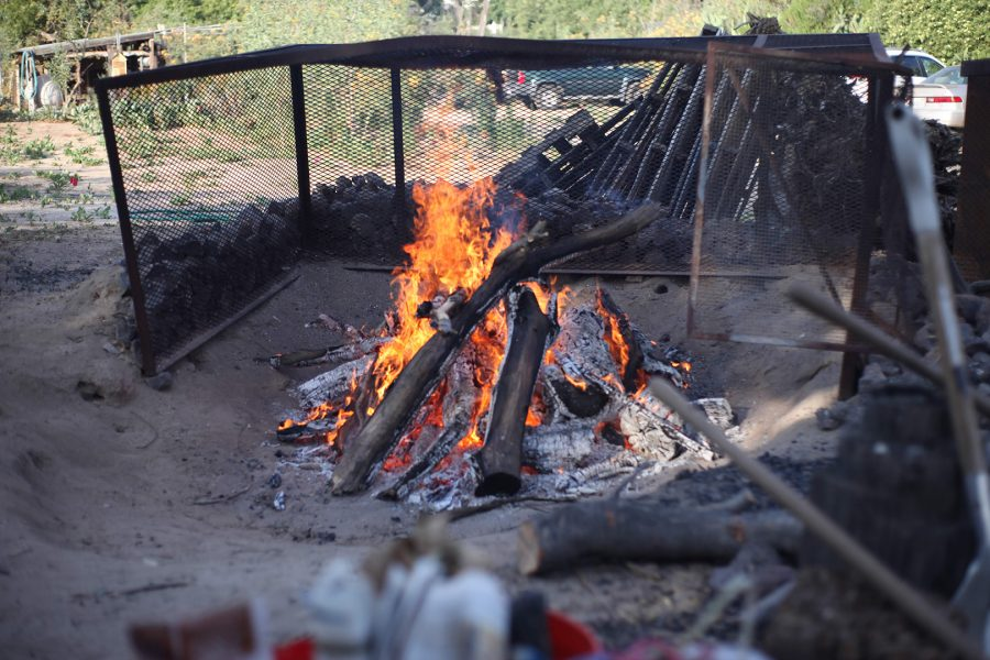 A+bonfire+heats+up+stones+to+be+used+in+a+sweat+cerimony+at+Black+Widow+Ranch+on+June+15.+Photo+credit%3A+Abraham+Navarro%2FSAC.Media.