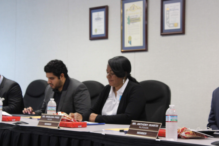 Rowland+Unified+School+District+Clerk+Angela+Pride+attends+to+business+at+the+Dec.+18+LPVROP+meeting.+Photo+Credit%3A+Abraham+Navarro%2FSAC.Media.