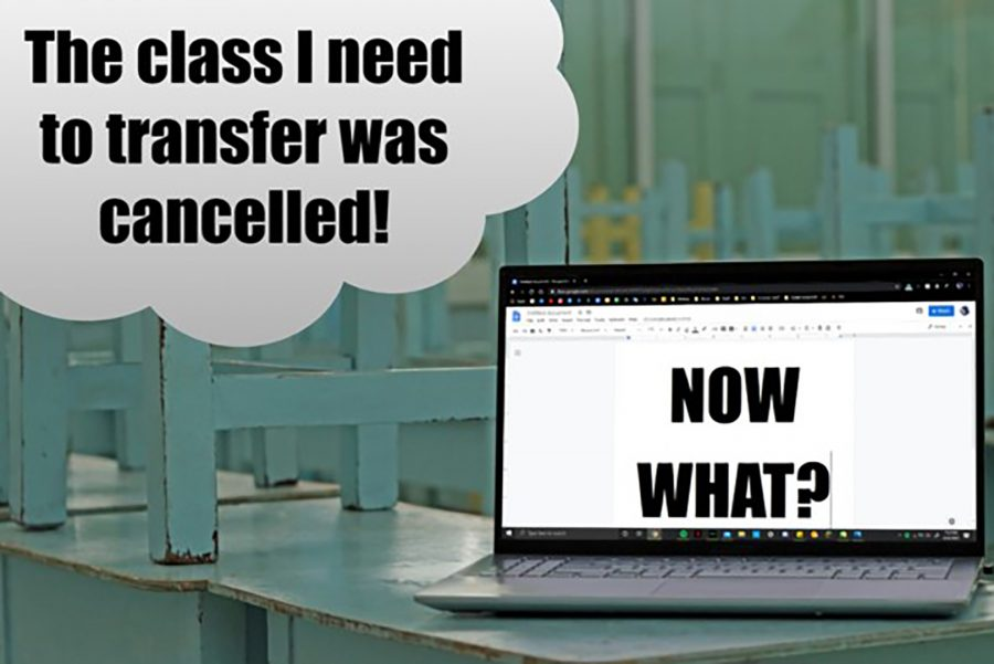 Students who intend on transferring at the end of the spring semester may be in jeopardy because the class they need has been canceled. Photo Illustration: Leni Santos/SAC.Media.