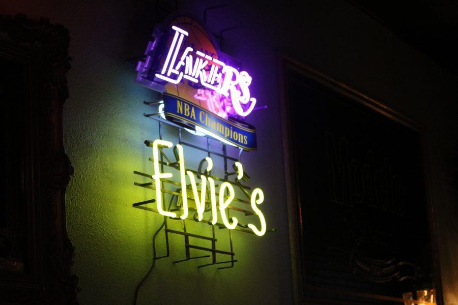 Neon sign for Elvie's Inn in Covina, California. Photo by Alex Urquidez/SAC Media.