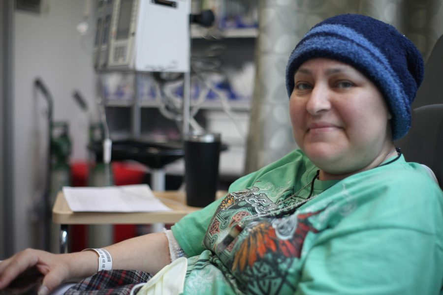 Mayra Castro waits to start chemotherapy at City Of Hope on June 5, 2019. Photo Credit: Abraham Navarro/SAC.Media,