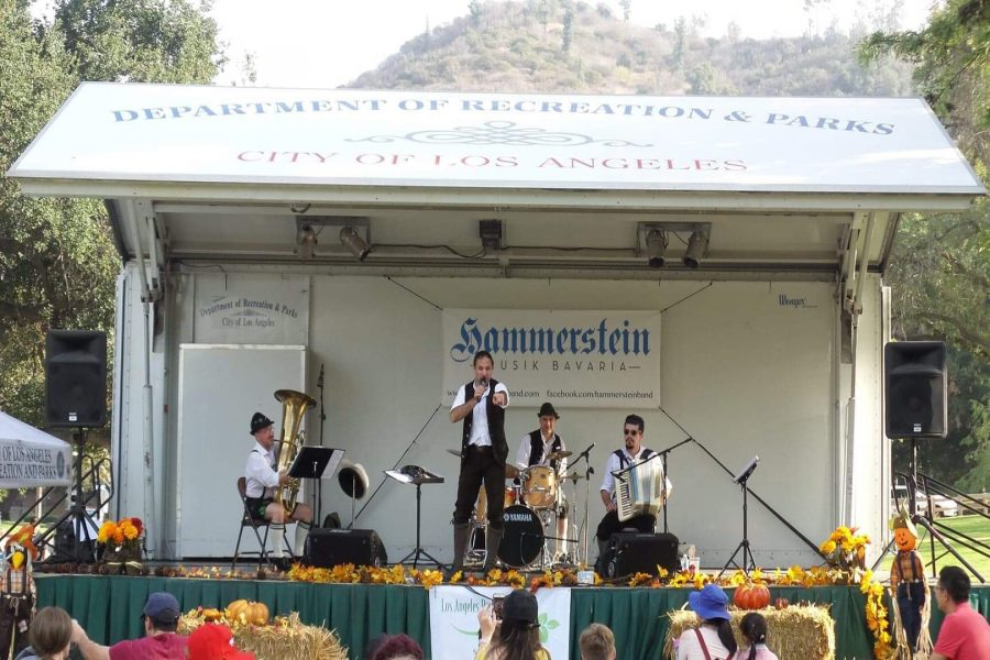 Hammerstein plays authentic Bavarian Polka Rock at Griffith Park Fall Harvest Craft Festival on Sunday, Nov. 4. Photo Credit Andy Lizarraga.