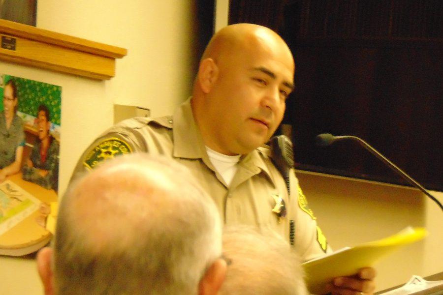 LASD+Town+Sheriff+Deputy+Jose+Ruano+gives+his+report+to+the+HHIA+board+and+community+members.+Photo+Credit%3A+Joshua+Sanchez%2FSAC.Media.