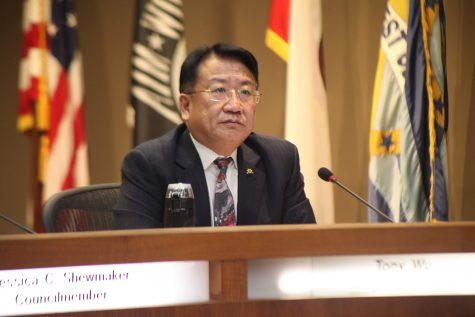 West Covina Mayor Tony Wu, who promoted the item, heard arguments against renaming the street. Photo Credit: Abraham Navarro/SAC.Media.