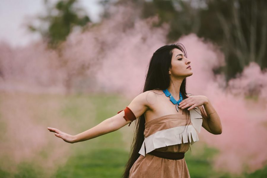 Photo of Andrea Diaz as Pocahontas by Tiffany Chien.