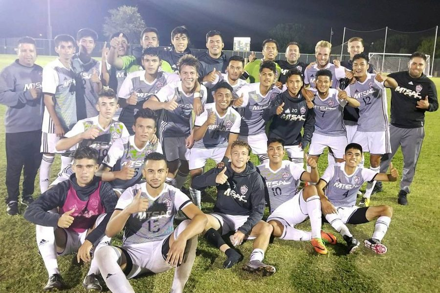 Mt. SAC's men soccer team after win against Richland College. Photo from Mt. SAC athletics.