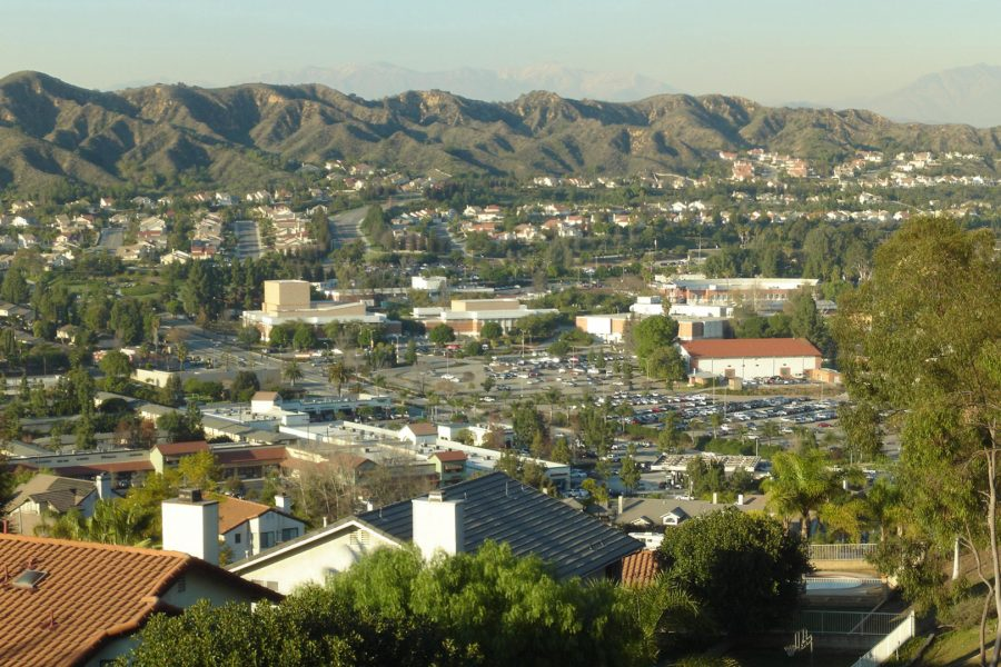 The western edge of the Mt. SAC campus from the south. Photo from Creative Commons.