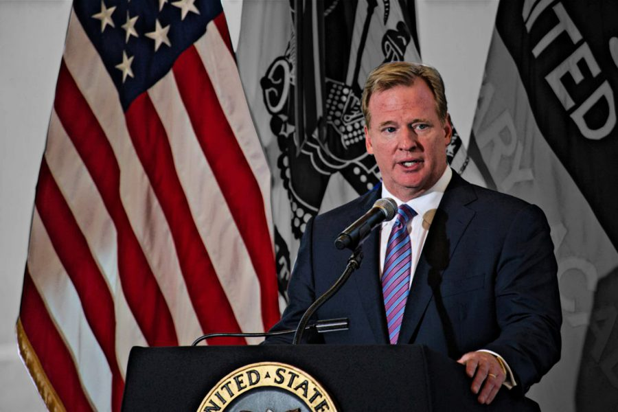 National Football League Commissioner Roger Goodell on Thursday, Aug. 30, 2012. Photo Credit: Staff Sergeant Teddy Wade