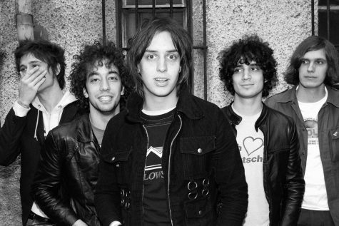 The Strokes in 2002. Photo Credit: Roger Woolman