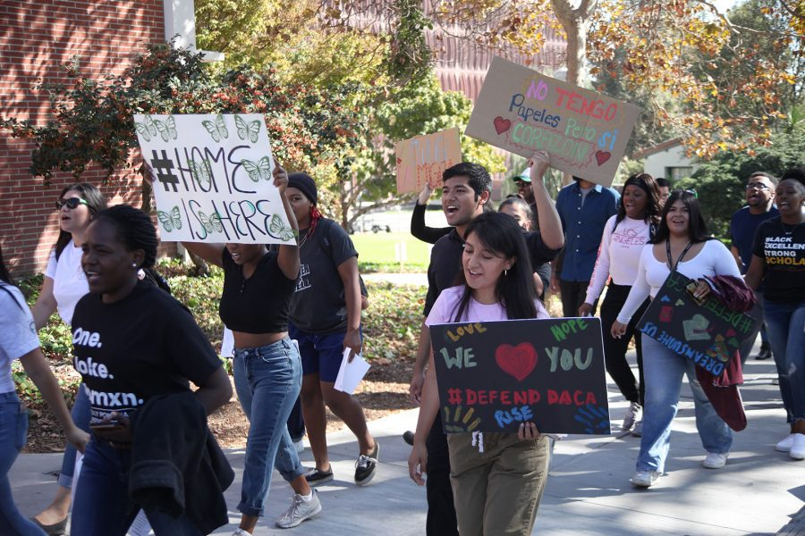 Mt.+SAC+students+carpooled+to+the+Cal+Poly+campus+to+participate+in+the+march%2C+many+of+who+are+DACA+recipients.+Photo+credit%3A+Abraham+Navarro%2FSAC.Media.