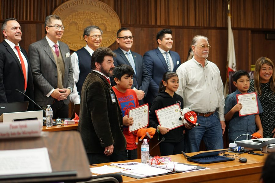 The+board+recognized+Sparks+Elementary+students%2C+Sparks+Middle+School%2C+and+La+Puente+High+School+before+approving+district+wide+funds.+Photo+Credit%3A+Joshua+Sanchez%2FSAC.Media.