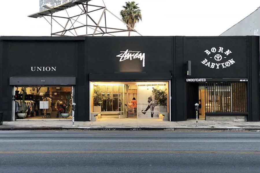 Store+Undefeated+%28right%29+host+a+pop-up+for+Born+x+Raised+and+Babylyon%2C+a+skate+wear+clothing+line+in+Los+Angeles+on+Saturday%2C+Nov.+17.+Photo+Credit%3A+Lee+Spielman