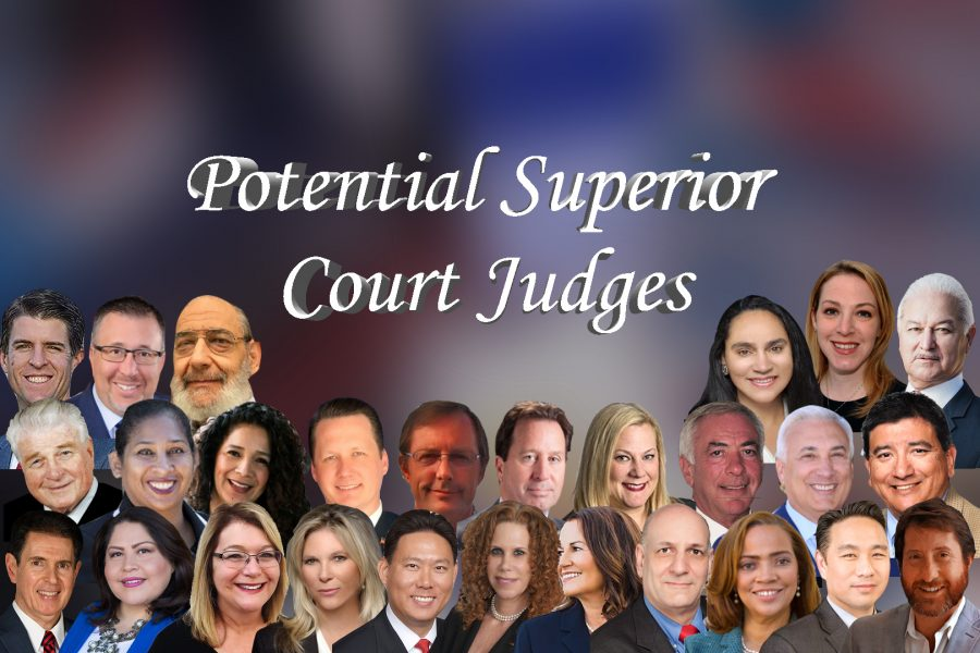 These+are+the+28+candidates+vying+for+11+seats+for+judge.+Images+provided+by+Voter%27s+Edge+and+the+candidate%27s+campaign+website.+Graphic+Credit%3A+Joshua+Sanchez%2FSAC.Media.