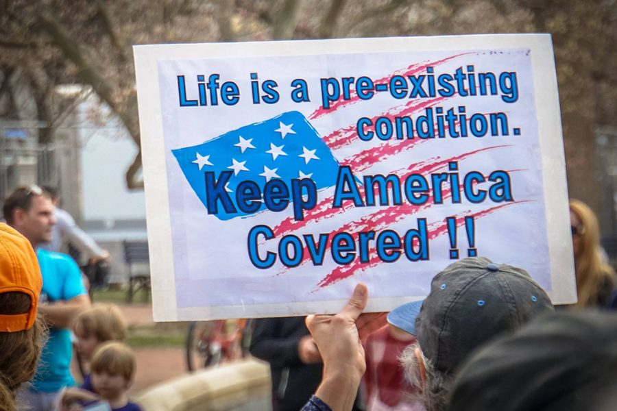Protest against Obamacare repeal. Flickr