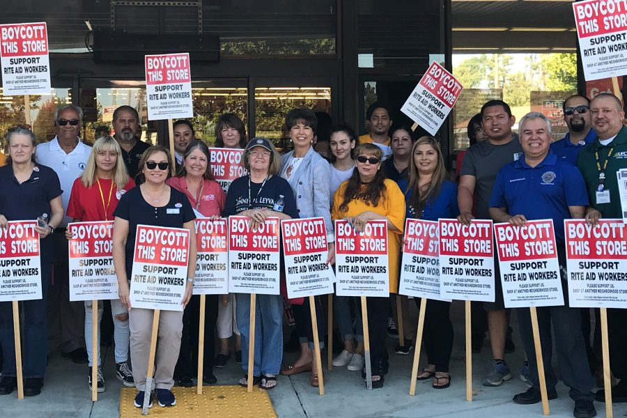 Rite+Aid+Workers+and+UFCW+advocates+celebrate+their+strike.+Photo+Credit%3A+Berenize+Montoya%2FSAC.Media.