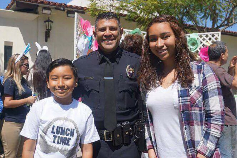 Chief+Salcedo+at+an+Easter+event+in+Baldwin+Park.+Photo+from+Justice+for+Chief+Salcedo+Facebook+page.