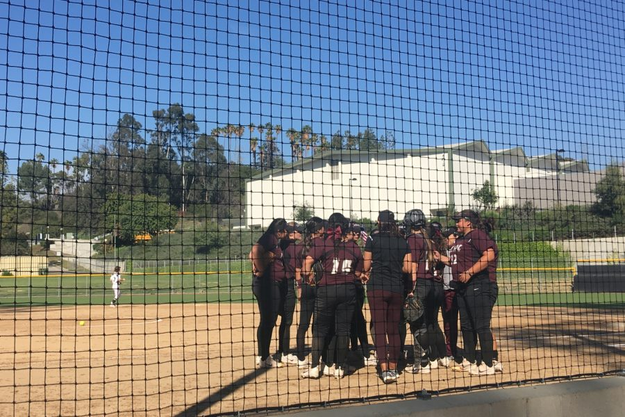 Mt.+SAC+Softball+takes+the+field+at+Rio+Hondo+College+on+Thursday%2C+March+29.+Photo+Credit%3A+Crystal+Ramirez.