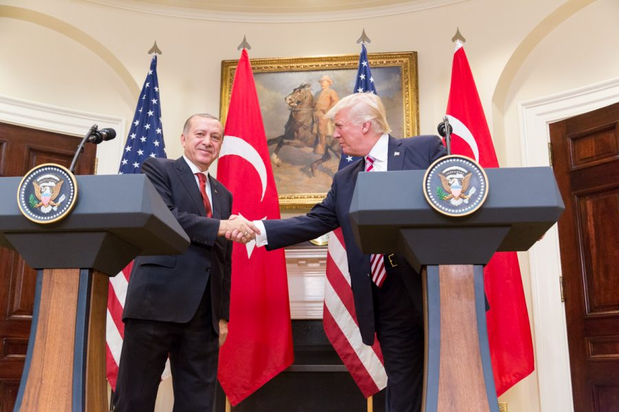 President Trump and Turkish President Erdoğan gave a joint statement in the White House on May 16, 2017.