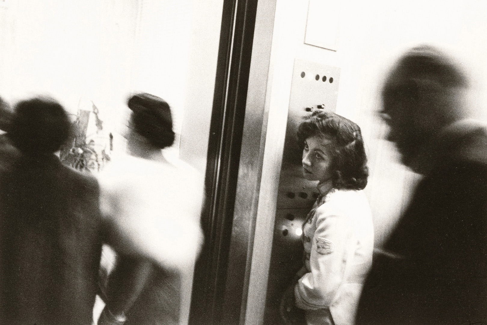 """Elevator—Miami Beach, 1955.,"" from ""The Americans."" Photo by Robert Frank ."