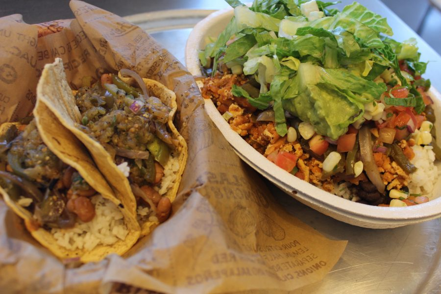 Vegetarian options at Chipolte. Photo by Joliana Frausto/SAC Media
