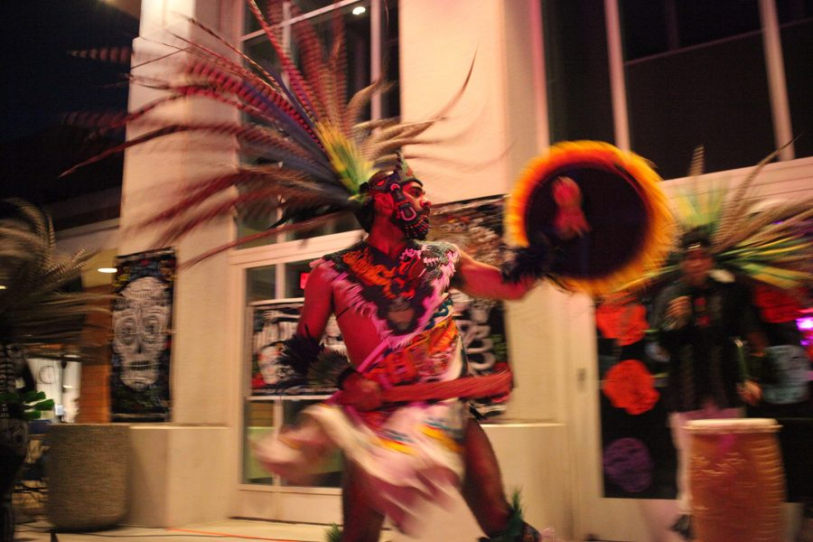 Sergio Juarez dances in front of the Sophia B. Clarke Theater on November 21, 2019. Photo credit: Abraham Navarro/SAC.Media.