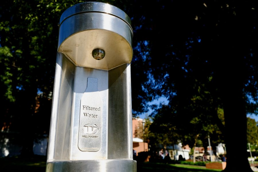 Water filling station near Bldg. 4. Photo by Doug de Wet/SAC Media.