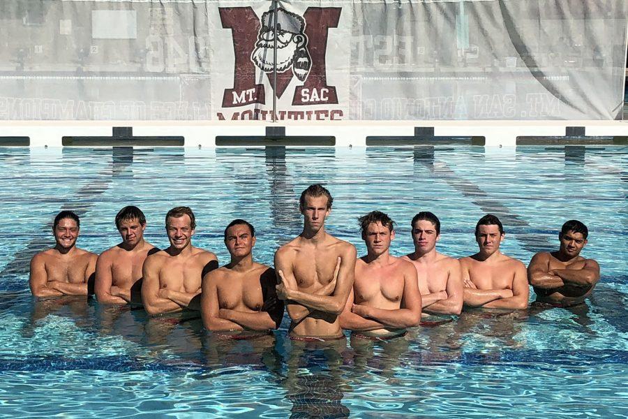 Mt SAC Men's Water Polo 2017 team. Photo Credit: Joey Perez