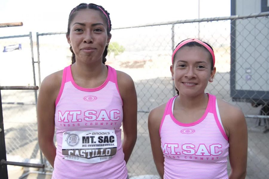 Teresa+Castillo+and+Maria+Castillo+who+took+2nd+and+3rd+at+the+Mt.+SAC+Cross+Country+Invitational+on+Sept.+16.+Photo+by+Kelli+Hofer%2FSAC+Media.