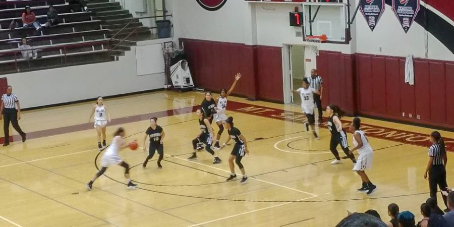 Mt. SAC competing against Rio Hondo in the TipOff Tournament Championship on Sunday, Nov. 4. Photo Credit: Travis Jepeway.
