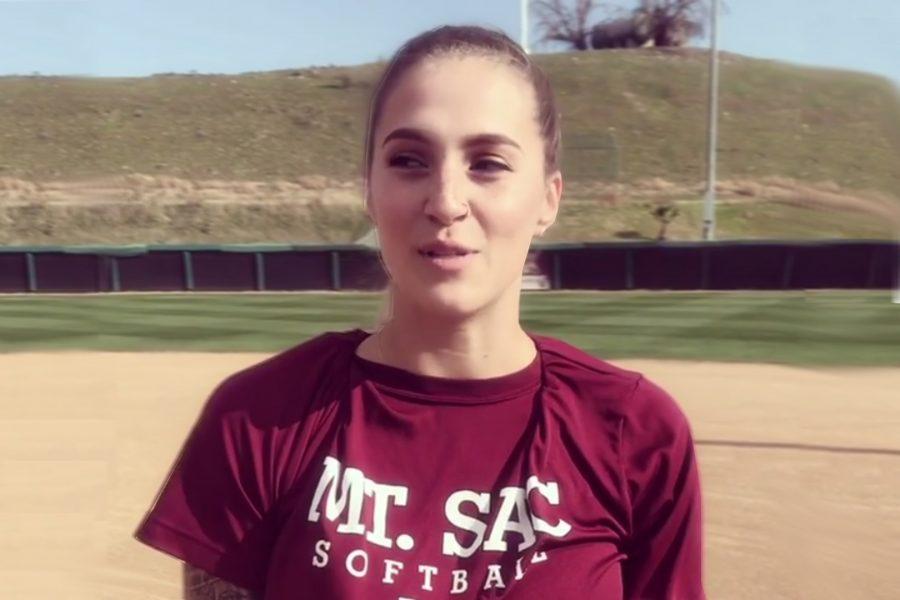 Mt.+SAC+Softball+shortstop+Nikki+Soto+on+Monday%2C+Feb.+12.+Photo+Credit%3A+Nikki+Soto%2FMt.+SAC+Softball