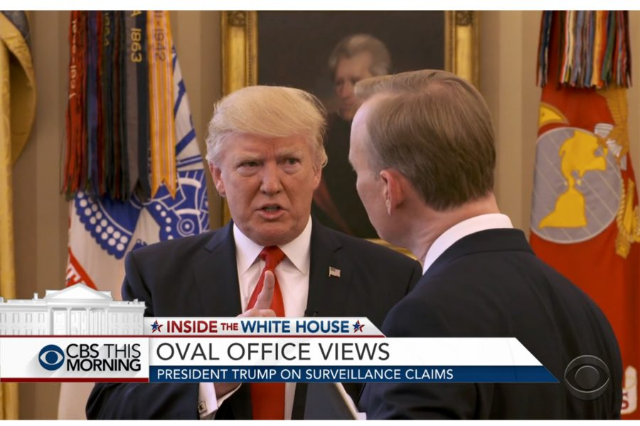 Screenshot of CBS's interview with President Donald Trump