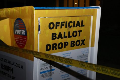 A Baldwin Park ballot box was set on fire on Oct. 18. Photo by Abraham Navarro/SAC.Media.