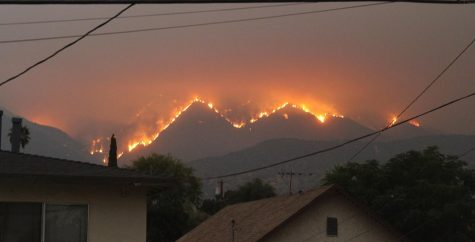 Bobcat Fire view from a kitchen window in Monrovia, CA, September 10, 2020 by Eddiem360 on Wikimedia Commons. https://commons.wikimedia.org/wiki/File:Bobcat_Fire,_Los_Angeles,_San_Gabriel_Mountains.jpg
