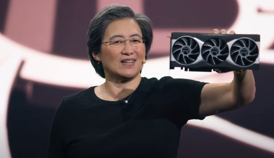 Photo taken from public video posted by AMD on YouTube Oct. 28.