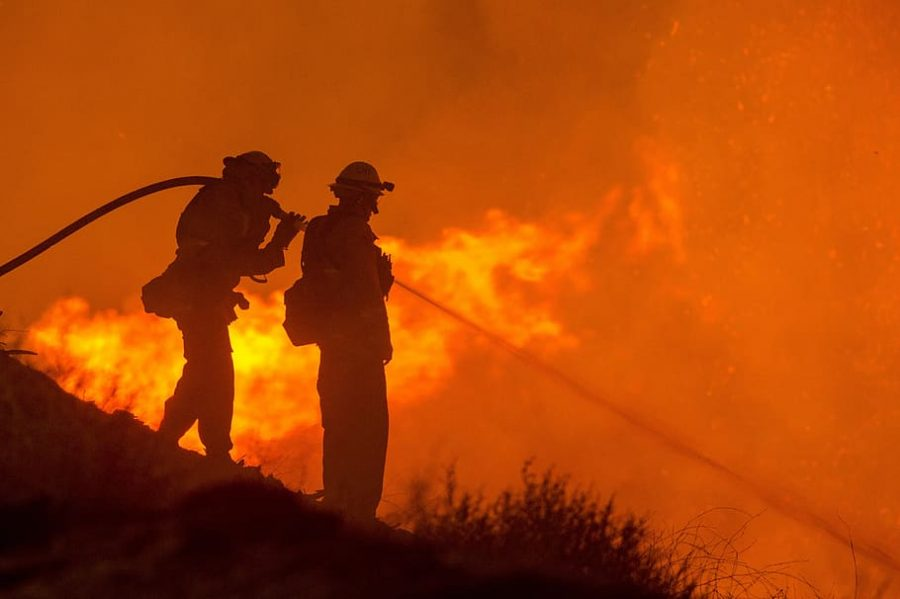 Firefighters fighting brushfire posted by DMCA on pxfuel.