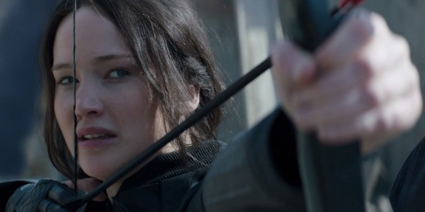 Jennifer Lawrence in Hunger Games.