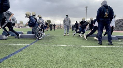 Rowland High School Football Practice
