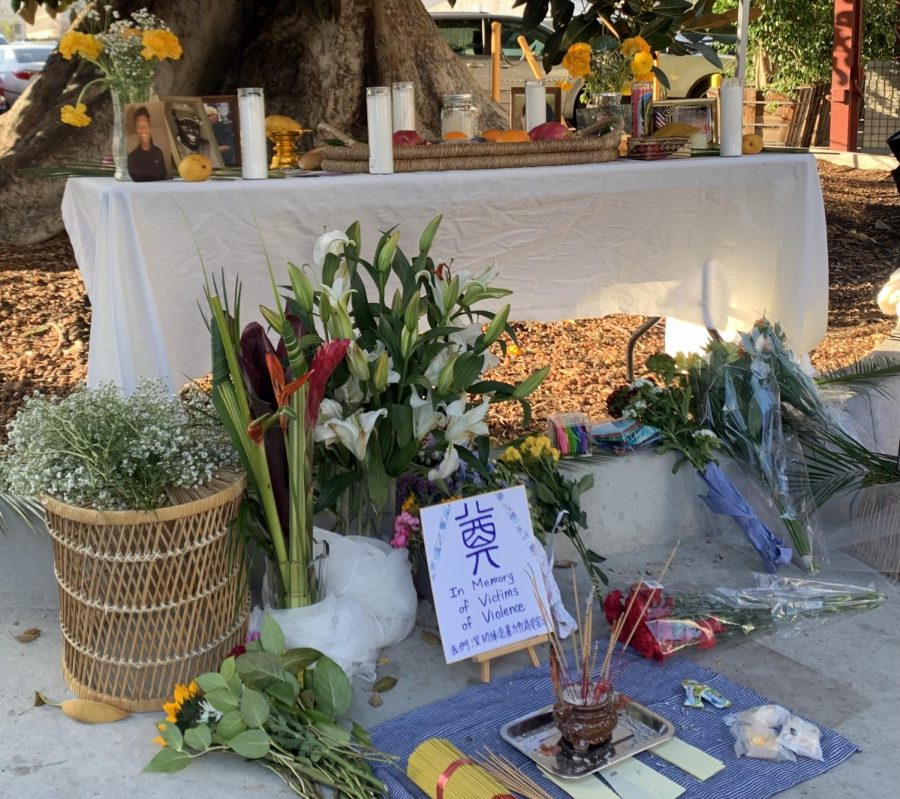 Memorial for hate crime victims at anti-Asian hate rally. Photo by Monica Inouye/ SAC Media