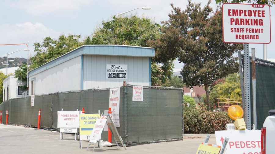 An employee parking lot leads into a Tilden-Coil construction zone on Aug. 18.