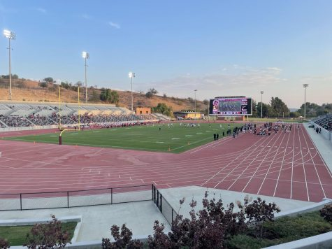 Hilmer Lodge Stadium during the first home football game since renovation